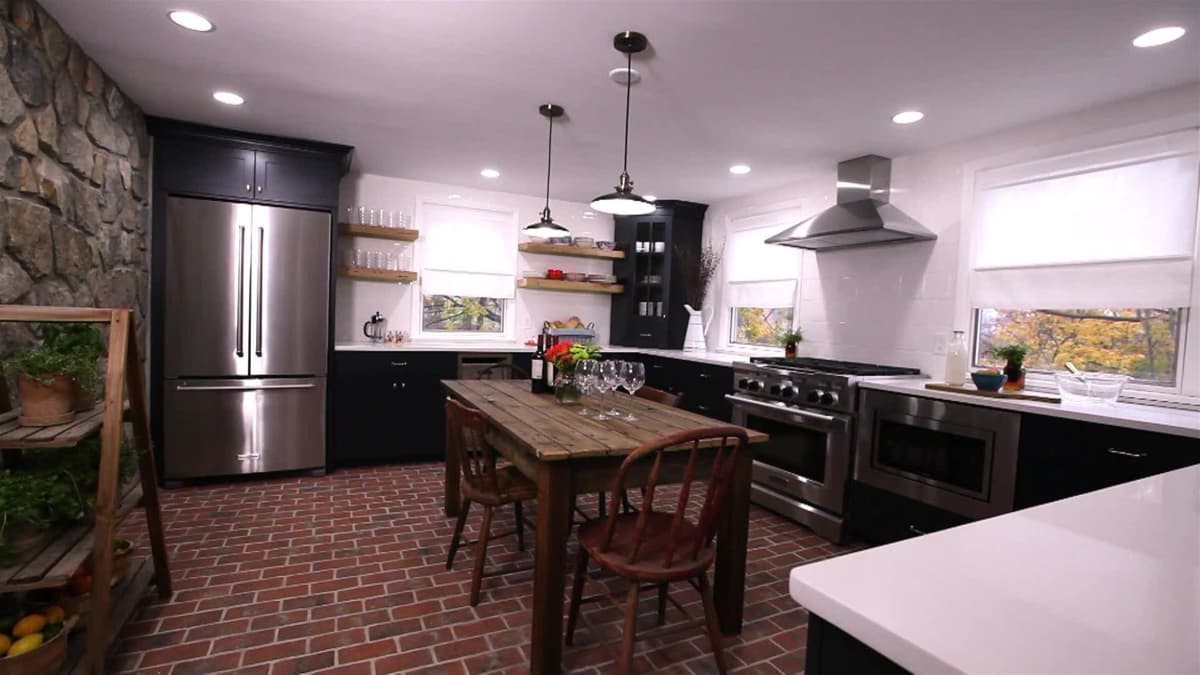 1800s kitchen and dining room stone house revival for Diy stone house revival