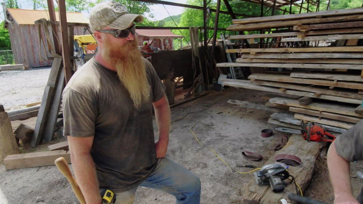 The guys build a barnwood dance floor and more for a farm wedding.