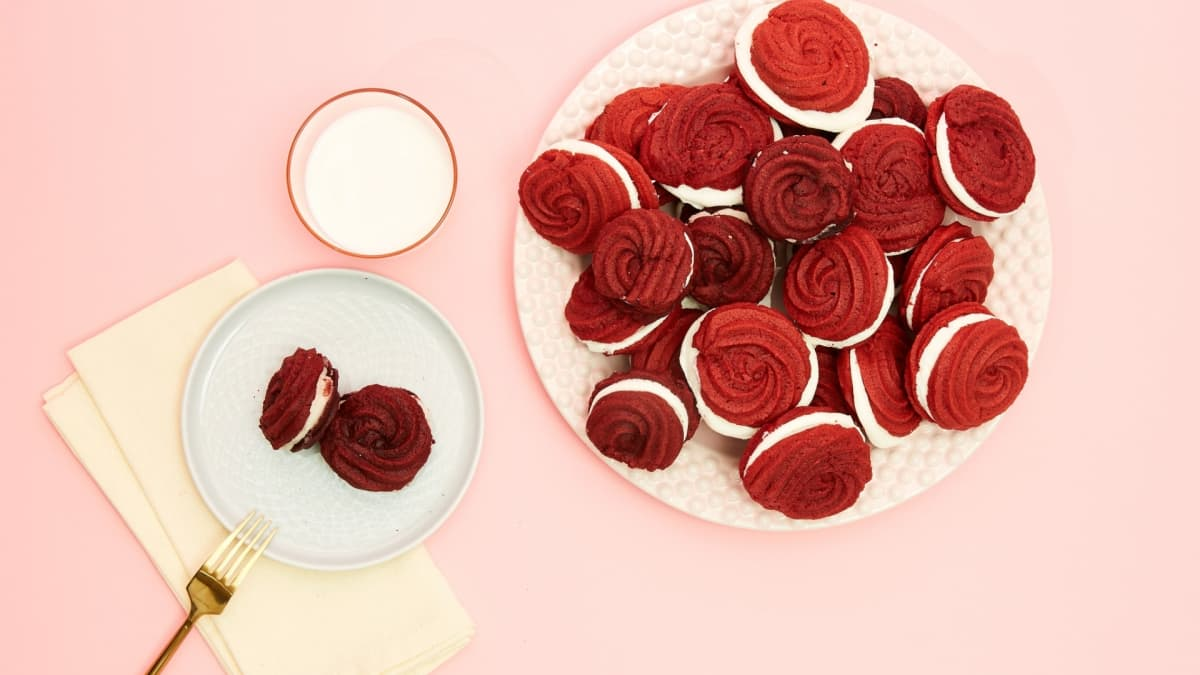 A dash of rose water adds a light floral note to these rosy-hued treats.
