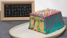 Surprise Rainbow Pi Cake