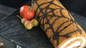 Spider Web Pumpkin Roll